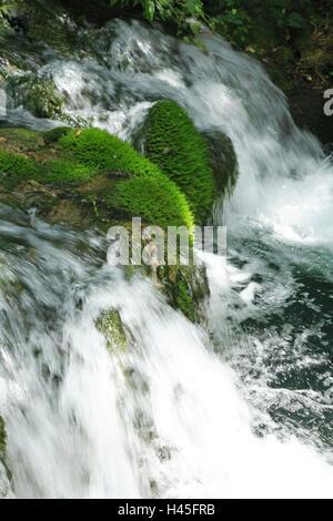 Kroatien, Dalmatien, Sibenik-Knin, Krka Nationalpark, Wasserfall Skradinski backen, Europa, Balkan-Halbinsel, Nationalpark, - Stockfoto