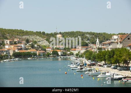 Kroatien, Dalmatien, Zaton mit Sibenik, - Stockfoto
