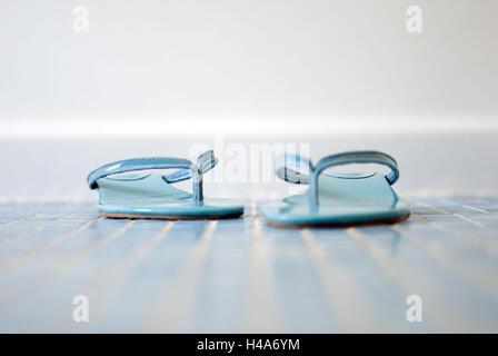 Flip Flops, blau, Boden, Mosaik-Fußboden, Fliesen, Mosaik, Bad, Bad, Schuhe, Türkis, legte, entkleideten, Sandalen, - Stockfoto