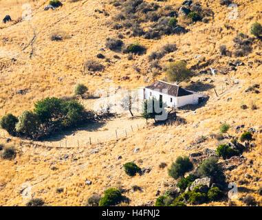 Verlassenen Bauernhaus in der Nähe von Casares, Provinz Malaga, Andalusien, Südspanien. - Stockfoto