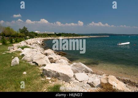 Adria-Küste, Novigrad, Istrien, Kroatien, Europa - Stockfoto