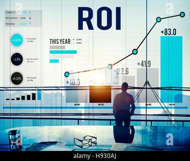 ROI Return On Investment Analyse Finance Concept - Stockfoto