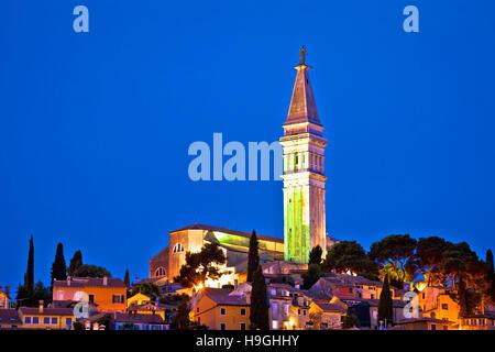 Von Rovinj Wahrzeichen Abend Blick, Istrien, Kroatien - Stockfoto