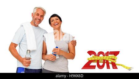 Passt 3DComposite Bild des Porträts von ein glückliches Paar - Stockfoto
