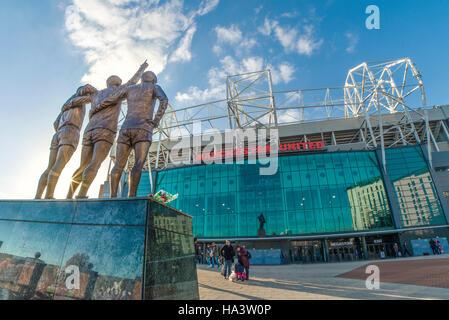 Old Trafford Football Ground, Heimat von Manchester United - Stockfoto
