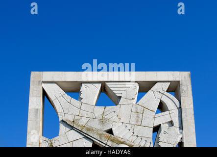 Denkmal für die Opfer des faschistischen Terrors in Rovinj, Istrien, Kroatien, Europa - Stockfoto