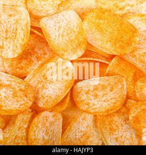 Kartoffel-Chips-Hintergrund - Stockfoto