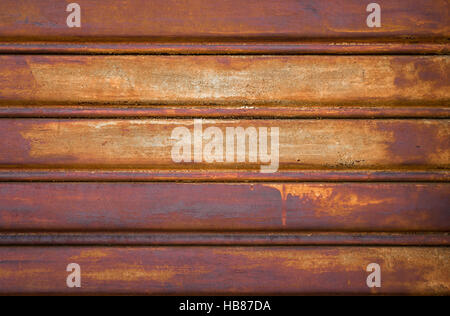 Rostige Tür garage - Stockfoto