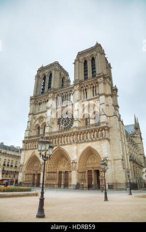 Kathedrale Notre Dame de Paris in Paris, Frankreich - Stockfoto