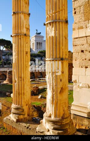 Roman Forum, historischen Zentrum von Rom, Italien. - Stockfoto