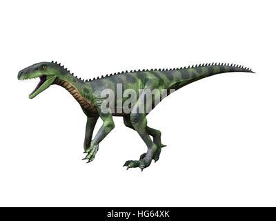 Herrerasaurus ist ein theropoder Dinosaurier aus der späten Trias Argentiniens. - Stockfoto