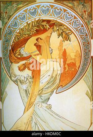 Alphonse Mucha Poesie - Stockfoto