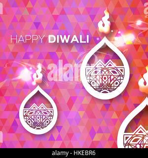 Dekorpapier Diwali Diya - Öl-Lampen-Design. Vektor-Illustration - eps10 - Stockfoto