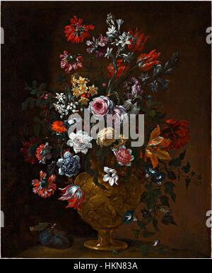 Bartolomeo Bimbi - Vase mit Blumen - Stockfoto