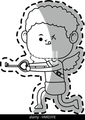 Baby Cupid Symbol - Stockfoto