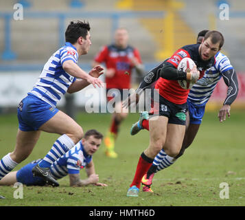 Die Shay Stadium, UK. 5. Februar 2017. Shay Stadion, Halifax, West Yorkshire 5. Februar 2017. Halifax V Featherstone - Stockfoto