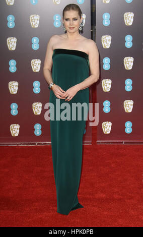 12. Februar 2017 - Amy Adams Teilnahme an EE British Academy Film Awards 2017 am Royal Opera House in London, England, - Stockfoto