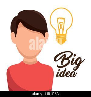 Lampe Licht große Idee Konzept - Stockfoto