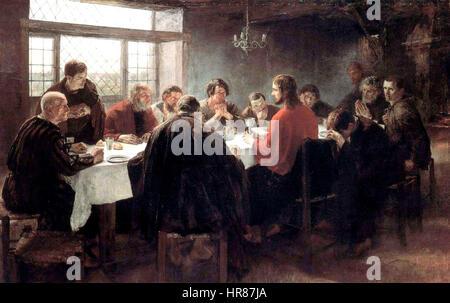 Das letzte Abendmahl (1886), von Fritz von Uhde - Stockfoto