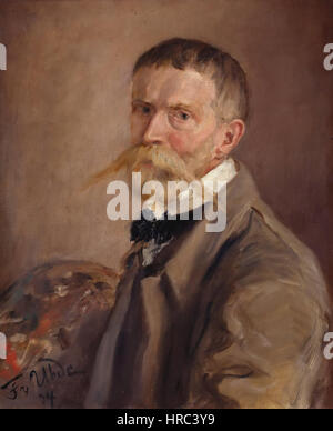 Fritz von Uhde - Selbstbildnis (1904) - Stockfoto