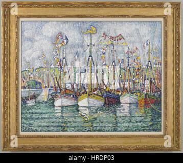 Paul Signac - Segen der Thunfischflotte Groix - 62.36 - Minneapolis Institute of Arts - Stockfoto