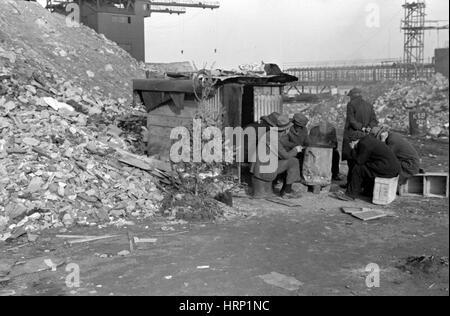 NYC, Arbeitslose Weihnachtsbaum, 1938 - Stockfoto