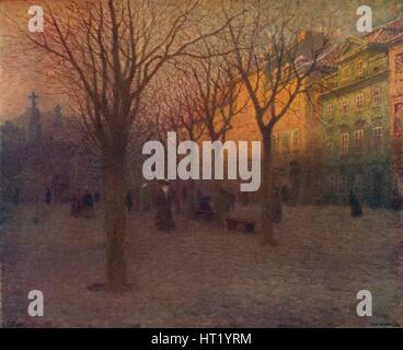 Ostrov Kampa, Prag, c1879-1906 (1906). Künstler: Vaclav Jansa - Stockfoto