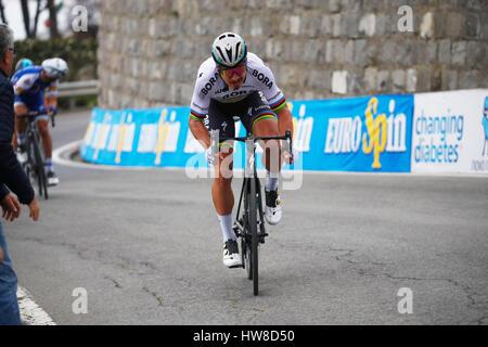 18 März 2017 108. Milano - Sanremo SAGAN Peter (SVK) Bora - Hansgrohe, um Poggio Foto: Cronos/Yuzuru Sunada - Stockfoto