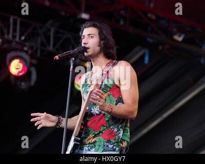 Nasri der musikalischen Gruppe, Magic!, führt bei dem iHeartRadio Music Festival & Village am 20. September 2014, - Stockfoto