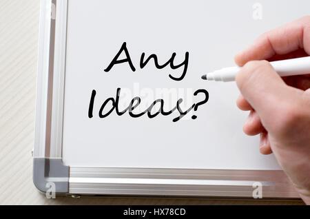 Menschliche Hand schreiben irgendwelche Ideen, whiteboard - Stockfoto
