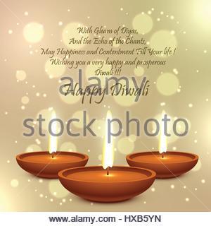 Diwali Festival Diya Lampe - Stockfoto
