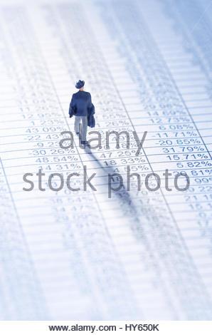Geschäftsmann, spielt die Börse - Stockfoto