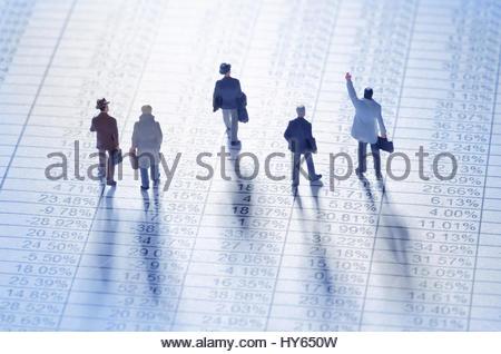 Geschäftsleute, die die Börse spielen - Stockfoto