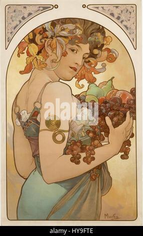 Alfons Mucha Fruit2 - Stockfoto
