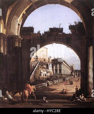 Capriccio, der Hauptstadt von Bernardo Bellotto - Stockfoto