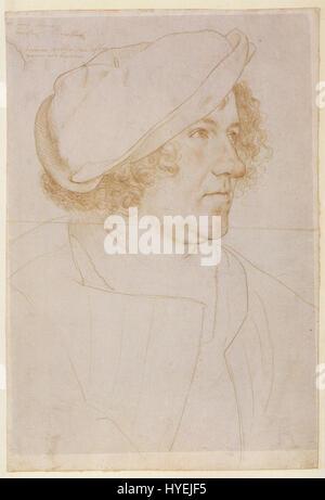 Porträtzeichnung von Jakob Meyer, von Hans Holbein den jüngeren - Stockfoto