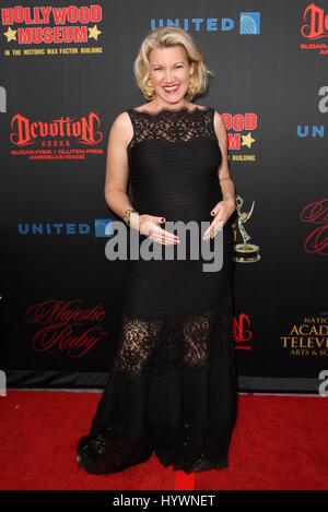Hollywood, CA, USA. 26. April 2017.  Melissa Disney. Daytime Emmy Awards nominiert Rezeption statt auf der Hollywood - Stockfoto