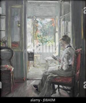 Fritz V Uhde Lesendes Mädchen (1) - Stockfoto