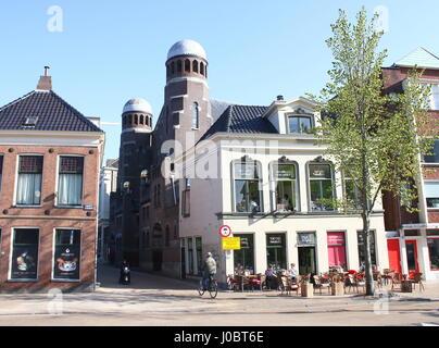 Jüdische Synagoge (1906) von Folkingestraat in Groningen, Niederlande. Maurischen Stil, Entwurf des Architekten - Stockfoto