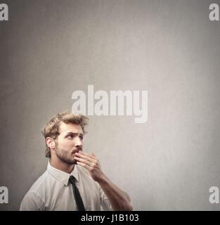 Geschäftsmann im Inneren denken - Stockfoto