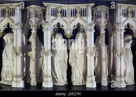 Die Trauernden von Dijon geschnitzt auch bekannt als Pleurants Dijon niederländischen Renaissance-Bildhauers Claus - Stockfoto