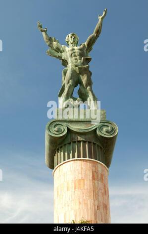 Spanien, Andalusien, Costa Del Sol, Marbella, Puerto Banus, el Marbellero Denkmal Europas, Provinz Malaga, Stadt, - Stockfoto