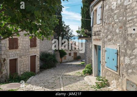 Die kleine Altstadt von Rovinj-Stadt - Stockfoto