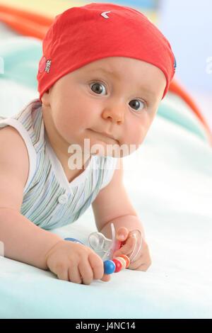 Baby, Porträt, 5 Monate, - Stockfoto
