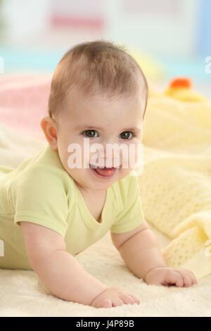Baby, 6 Monate, Porträt, Modell veröffentlicht, Menschen, Kind, Kleinkind, Kind Portrait, Baby Portrait, fügen Sie - Stockfoto