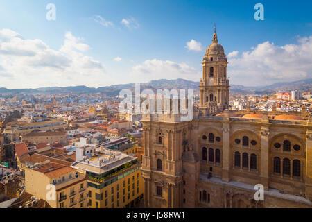 Malaga, Provinz Malaga, Costa Del Sol, Andalusien, Südspanien. Die Renaissance-Kathedrale. Volle spanische Name - Stockfoto