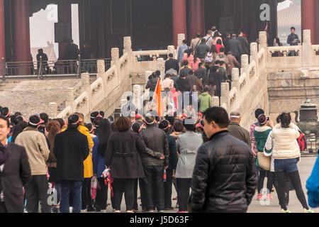 BEIJING, CHINA 26. März 2014: die Verbotene Stadt war einst die Heimat für den Kaiser von China und seiner Regierung, - Stockfoto