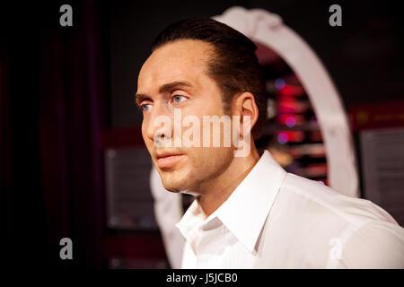 Amsterdam, Niederlande - März 2017: Wachsfigur von Nicolas Cage in Madame Tussauds Wachsfigurenkabinett in Amsterdam, - Stockfoto