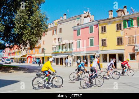 Radfahrer, Rovinj, Istrien, Kroatien - Stockfoto