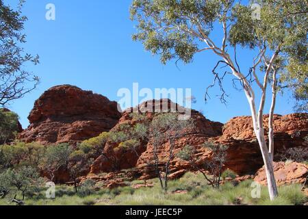 Felsformation am Kings Canyon in Australien - Stockfoto